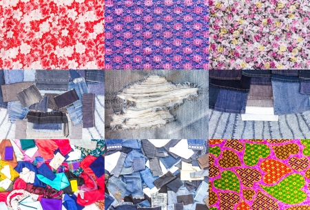 Collection of flowery backgrounds and beautiful rag jeans  photo