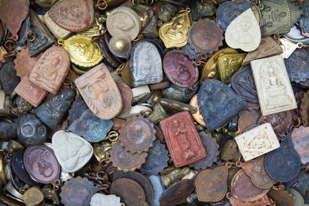 Background talismans amulets old shapes of different colors  photo