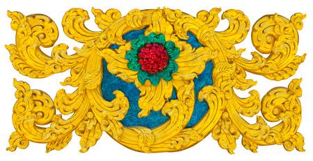 Isolates stucco art crafts of Thailand beautiful golden exotic  photo