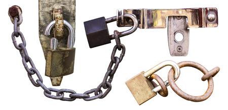Isolates of the different chain lock and one was severely cut  photo