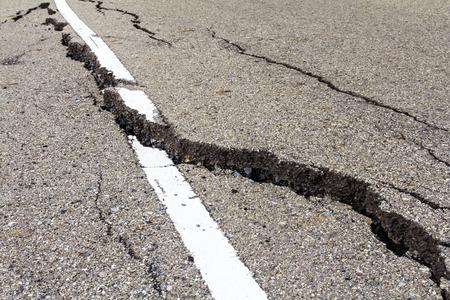 Asphalt road surface crack is dangerous because of corruption.
