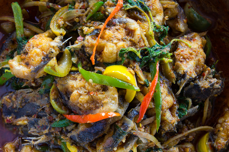 Catfish curry Thailand that is rich in nutritional value and taste, which are popular. photo