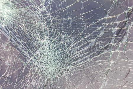 Gros plan sur le pare-brise à se fissurer en raison d'un accident est entré en collision. Banque d'images - 33307562