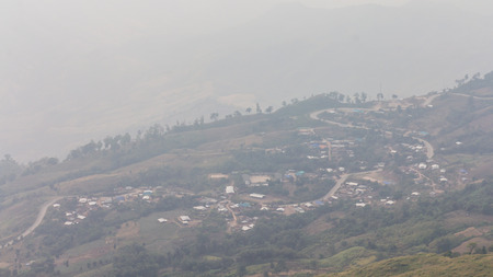 Smog has covered the mountain resort, which was overrun with deforestation. photo