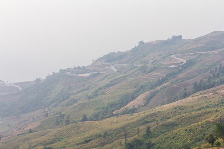 Smog has covered the mountain resort, which was overrun with deforestation.