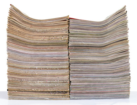 Isolates the lateral surface of the Journal of the many layers stacking two piles. photo