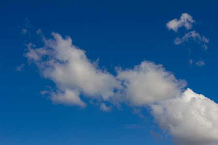stopped: Background clouds and blue sky on a beautiful bright day, after the rain and then stopped. Stock Photo