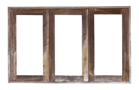 casement: Isolate the transom of weathered old wooden window frames, the three antique channels.
