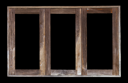 transom: Isolate the transom of weathered old wooden window frames, the three antique channels.