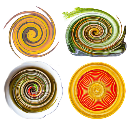 derived: Isolates of circular shapes, yellow rotating centrifuge, which is derived from a photo object.
