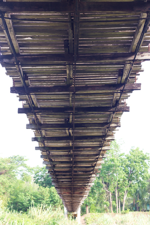 beneath the surface: Scenic view of the lower background under the old wooden bridge, which stretches to the coast.