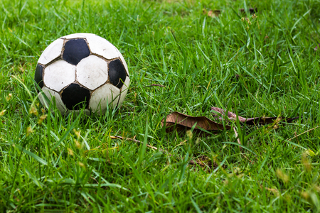 Close-old football defective condition through the use of a lying motionless in the grass, undergrowth.