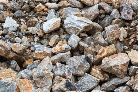 dirt background: Background pile of large rocks, which are stackable for preparing construction flap waterproof soil mix. Stock Photo