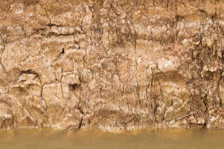 downstream: Close-surface underground slides, which dug a pit in preparation for downstream water canals.