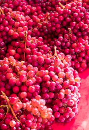 bonded: Small red grapes, which placed the bonded together to sell in the market place.