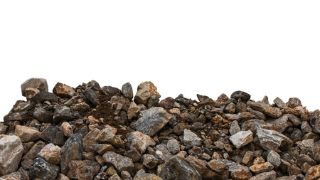loamy: Isolate pile of large and small granite stack is mixed with the loamy soil, which is still wet.
