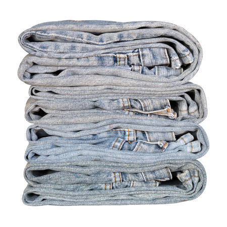 Close to the old jeans isolation, which is taken from the repair, sewing and folding overlap.