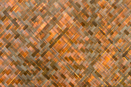Bamboo Surface Weave simple handicrafts commonly seen in the countryside, which are back in the early morning sunlight.