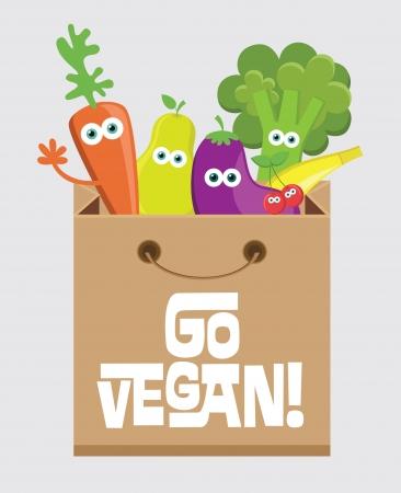 vegan card design illustrazione vettoriale