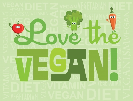 vegan card design  vector illustration Vector