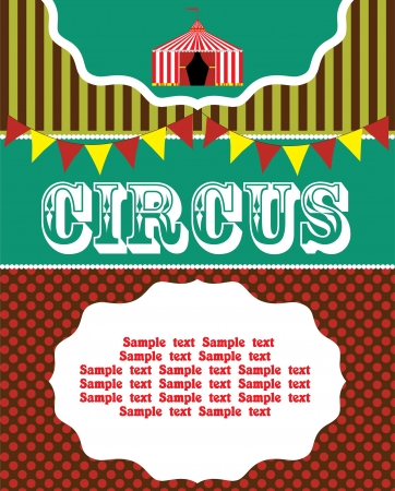 fun circus card   vector illustration Vector