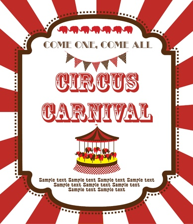 cute circus card design. vector illustration Illustration
