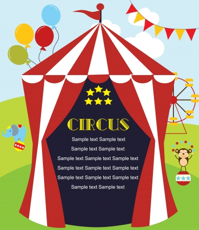 cute circus card design. vector illustration Stock Vector - 19252173