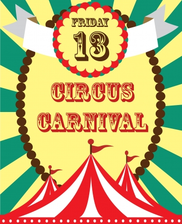 big top: cute circus card design. vector illustration Illustration