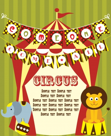 cute circus card design  vector illustration Vector