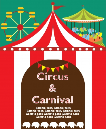 cute circus card design  vector illustration Stock Vector - 19252163