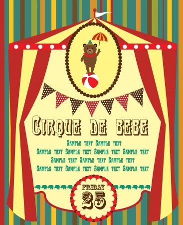 cute circus card design  vector illustration Stock Vector - 19252214