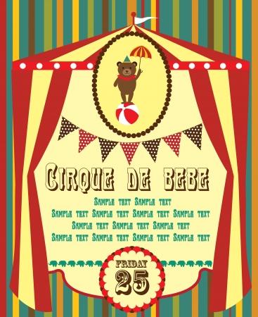 big top: cute circus card design  vector illustration