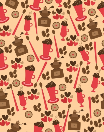 cute coffee pattern design  vector illustration Vector