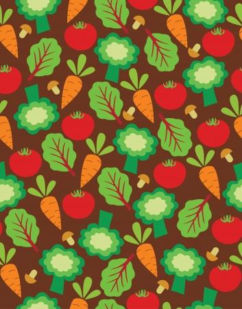 vegetable cook: cute kithen pattern design  vector illustration