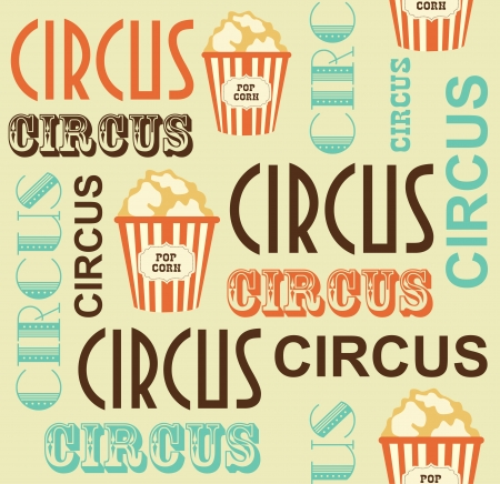 circus poster: circus seamless pattern  vector illustration
