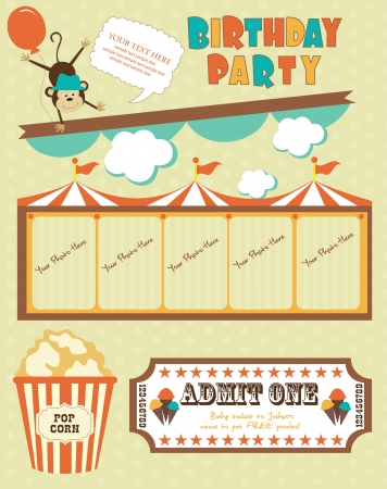 circus card design  vector illustration Vector