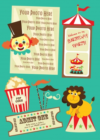 circus poster: circus card design  vector illustration Illustration