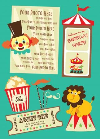 fete: circus card design  vector illustration Illustration