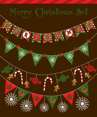christmas garland design. vector illustration Stock Vector - 19252475