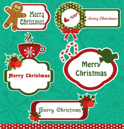 christmas frame collection design. vector illustration Stock Vector - 19252523