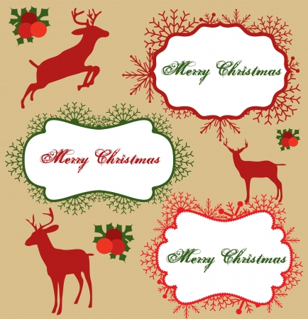 christmas frame collection design. vector illustration Vector