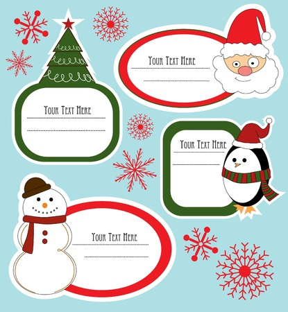 christmas frame set design  vector illustration Vector