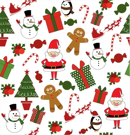 christmas scrapbook collection  vector illustration Stock Vector - 19252514