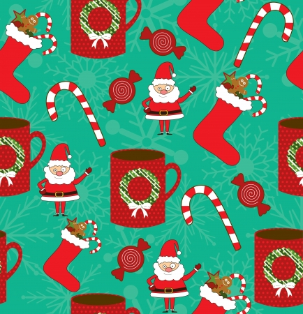 christmas scrapbook collection  vector illustration Vector