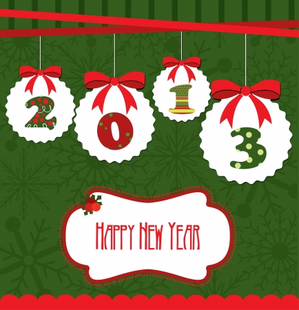 happy new year card  vector illustration Stock Vector - 19252412