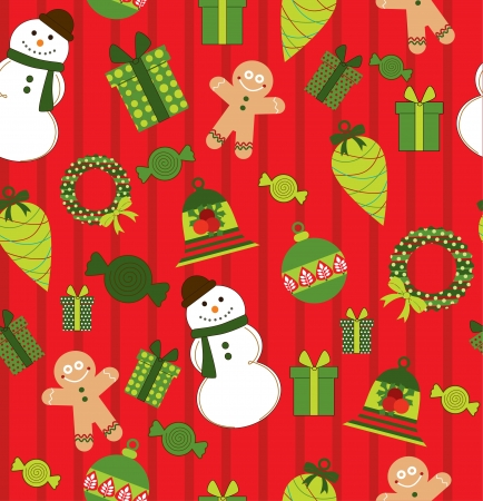 childlike: childlike christmas pattern  vector illustration