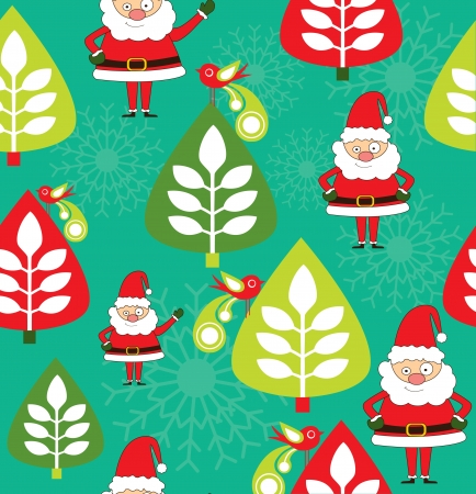 childlike christmas pattern  vector illustration Vector