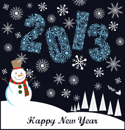 happy new year card design  vector illustration Stock Vector - 19252554