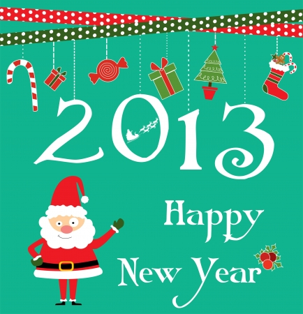 happy new year card design  vector illustration Stock Vector - 19252343