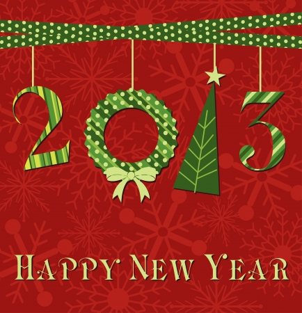 happy new year card design  vector illustration Vector